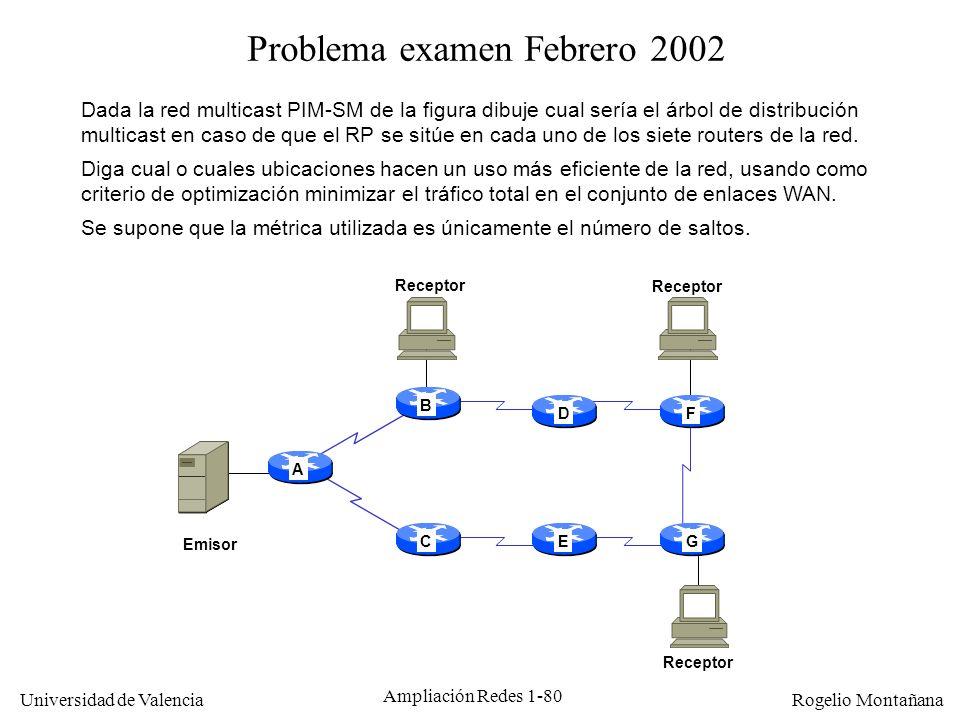 Problema examen Febrero 2002