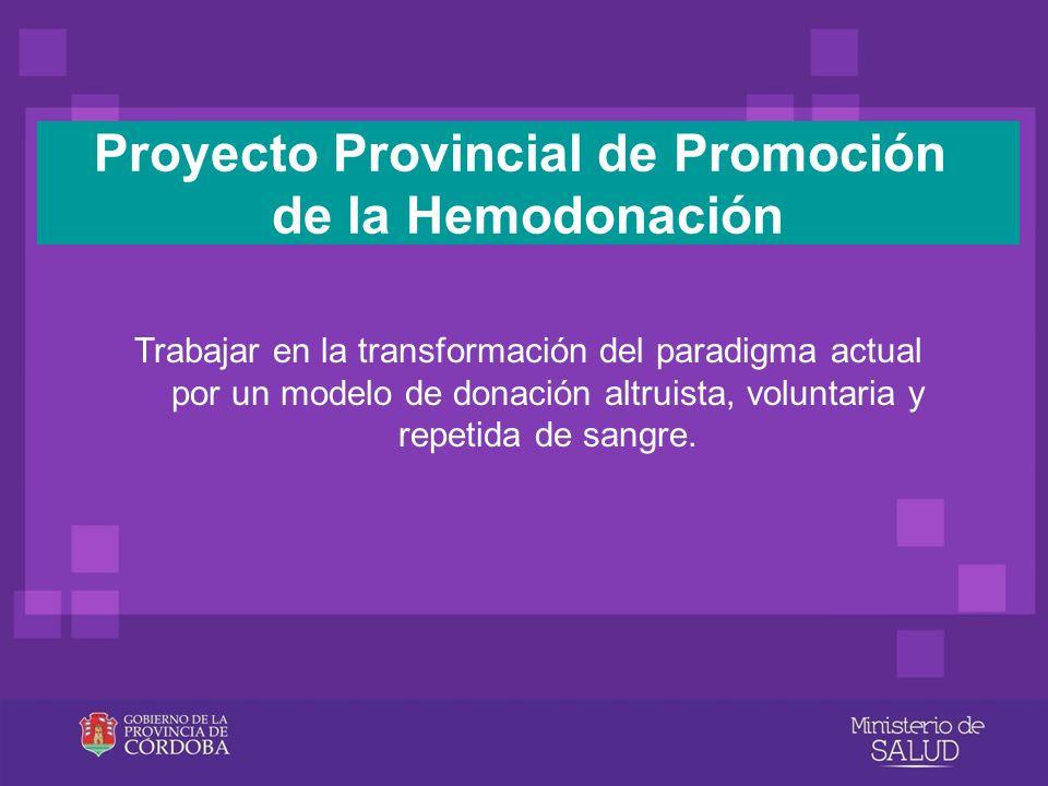 Proyecto Provincial de Promoción