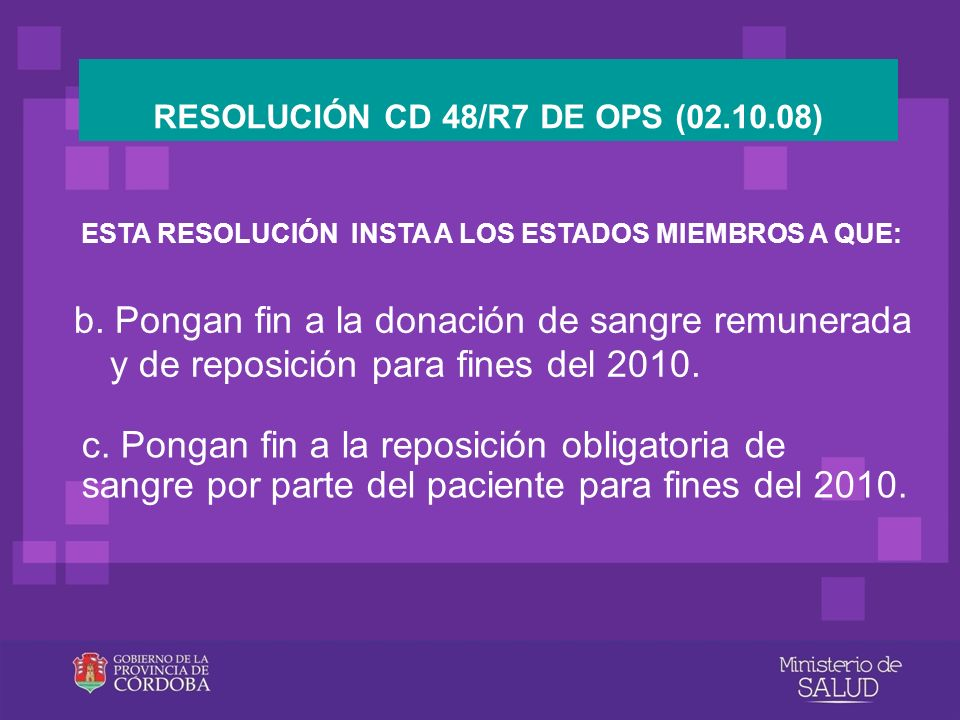 RESOLUCIÓN CD 48/R7 DE OPS (02.10.08)