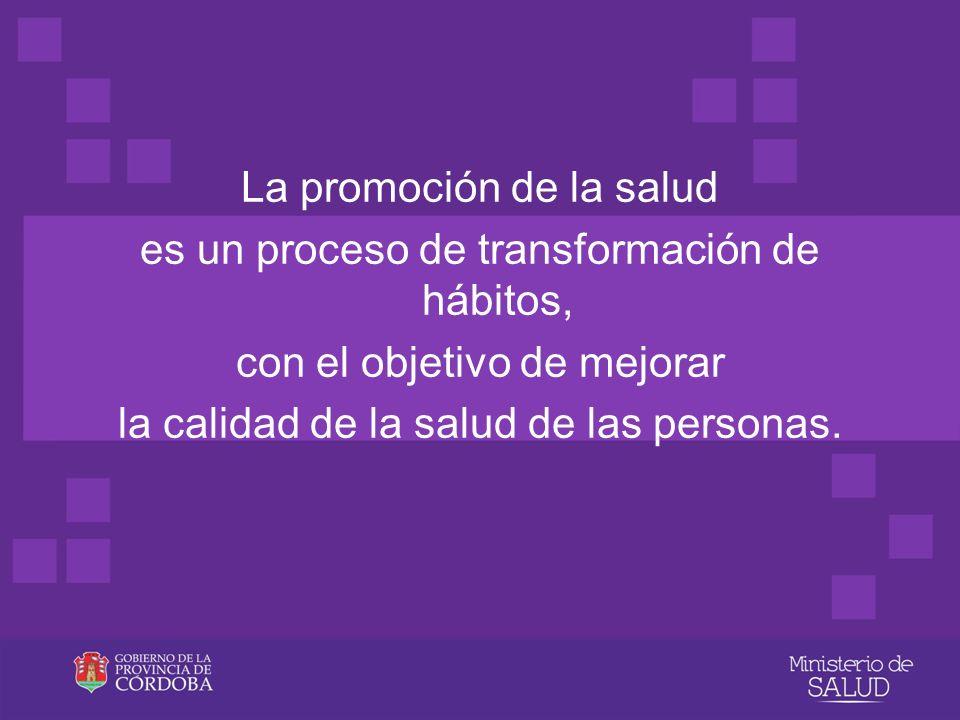 La promoción de la salud es un proceso de transformación de hábitos,