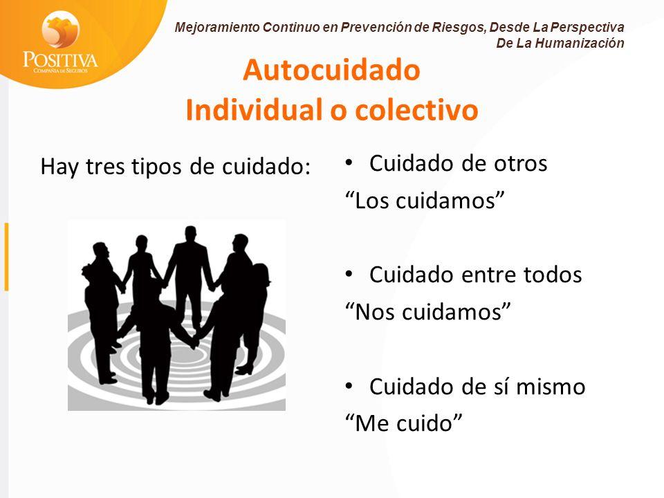 Autocuidado Individual o colectivo