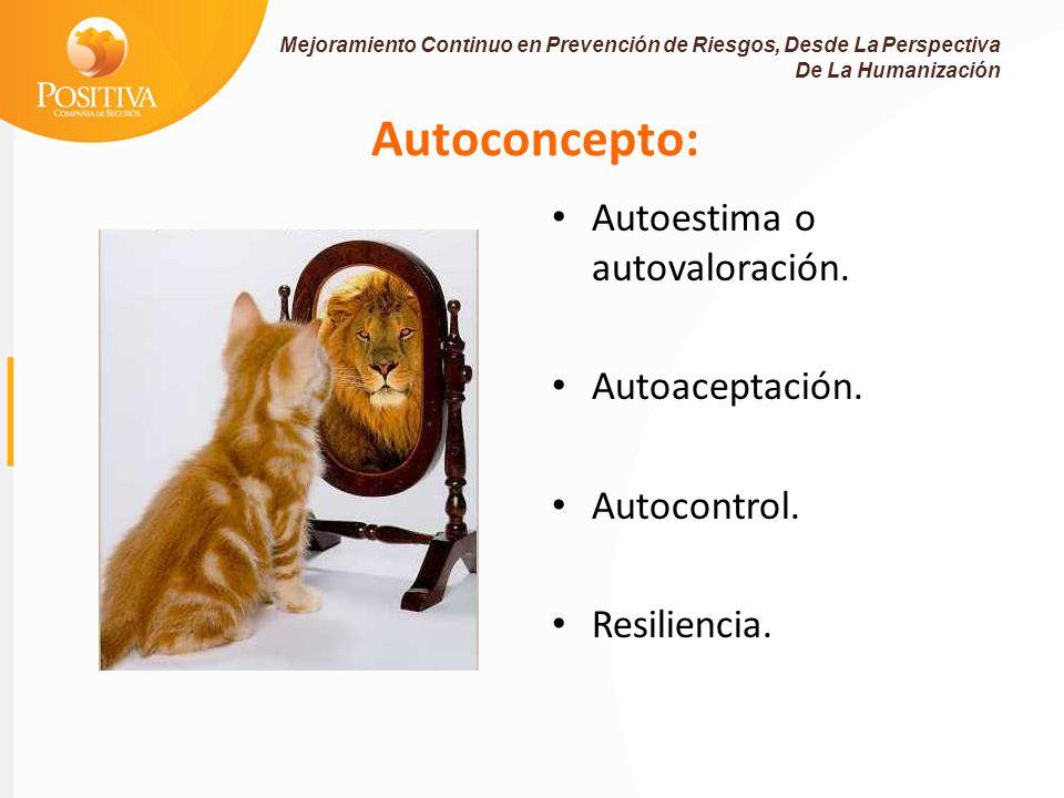 Autoconcepto: Autoestima o autovaloración. Autoaceptación.