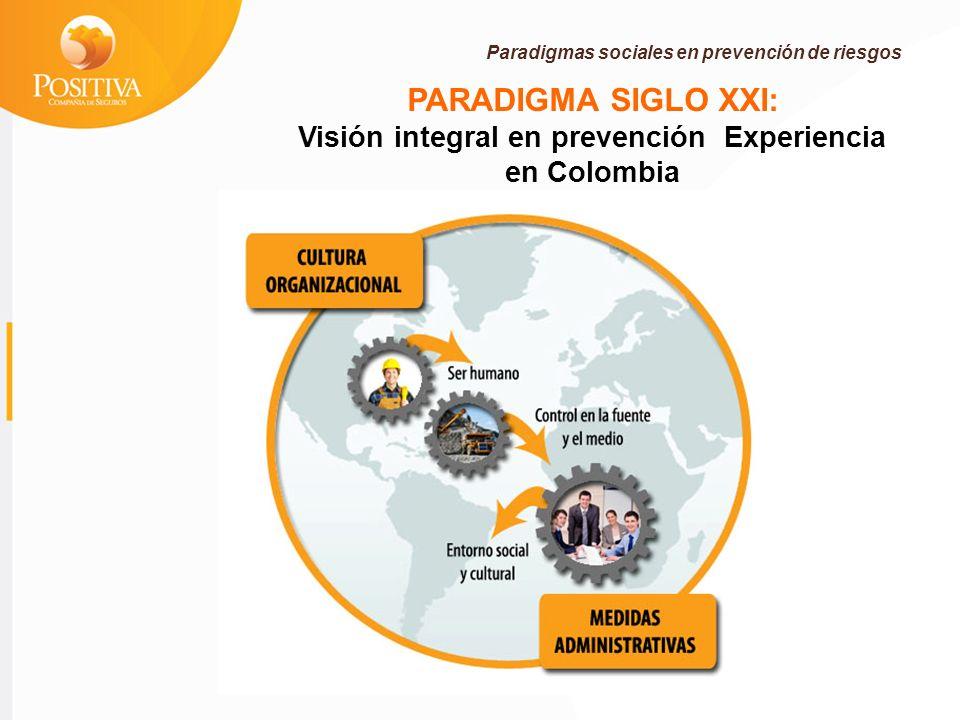 Visión integral en prevención Experiencia