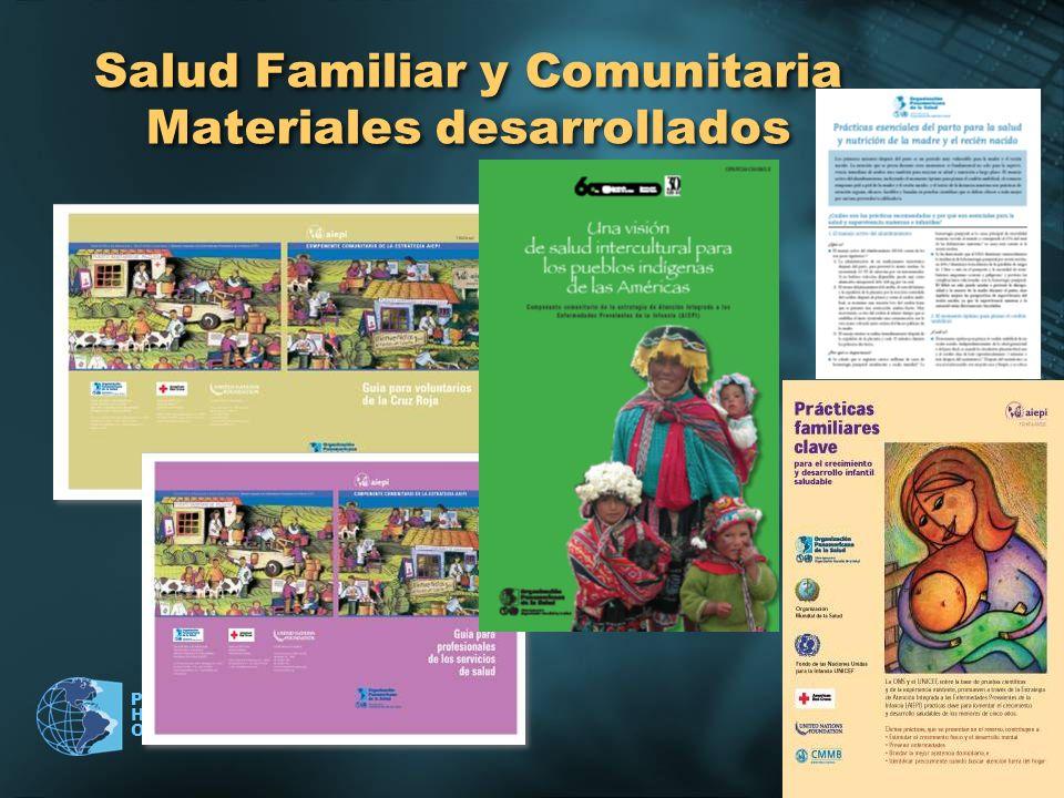 Salud Familiar y Comunitaria Materiales desarrollados