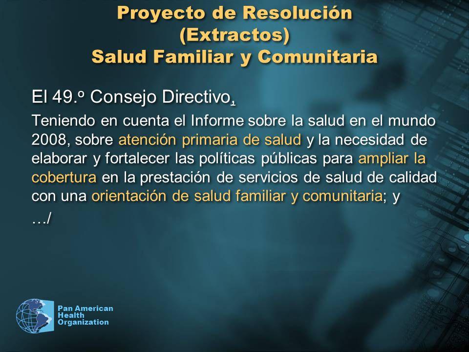 Proyecto de Resolución (Extractos) Salud Familiar y Comunitaria