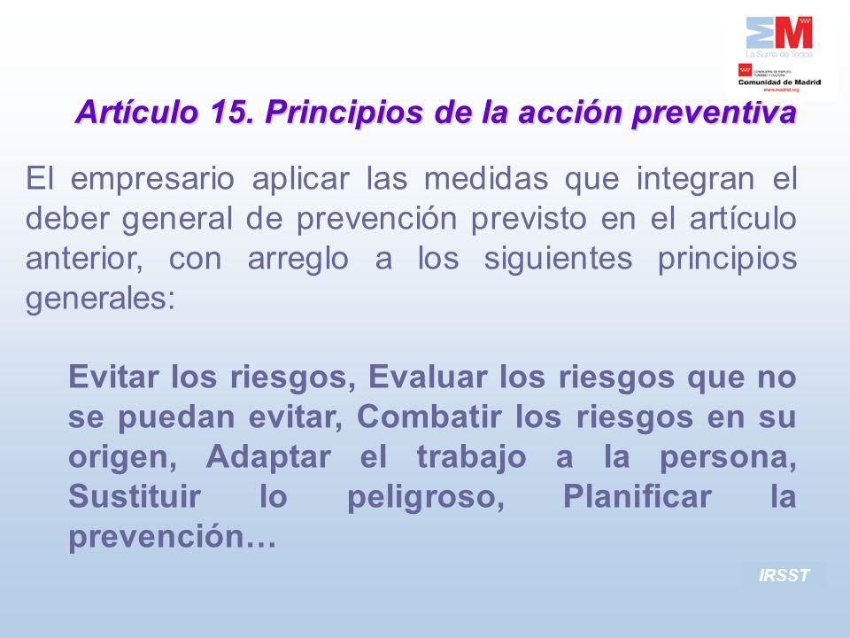 Artículo 15. Principios de la acción preventiva