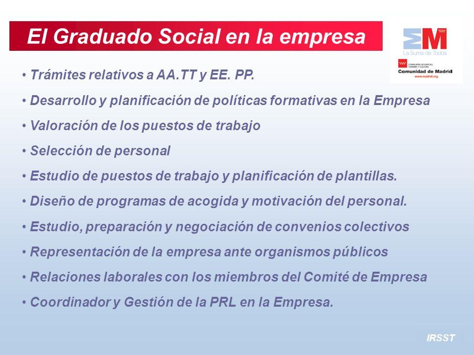 El Graduado Social en la empresa