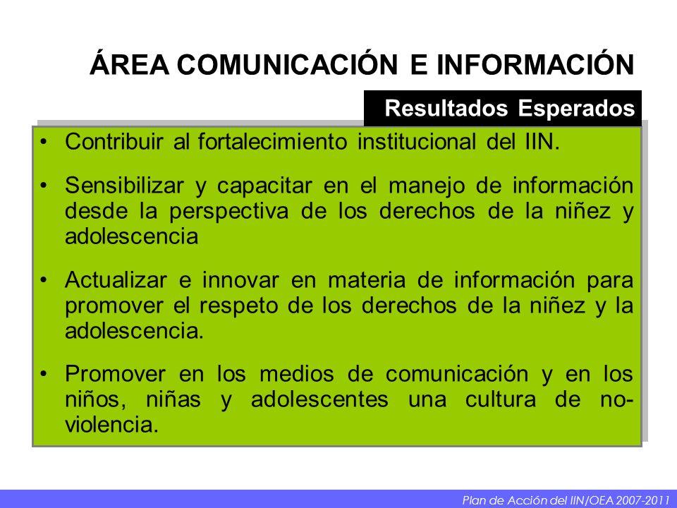 ÁREA COMUNICACIÓN E INFORMACIÓN