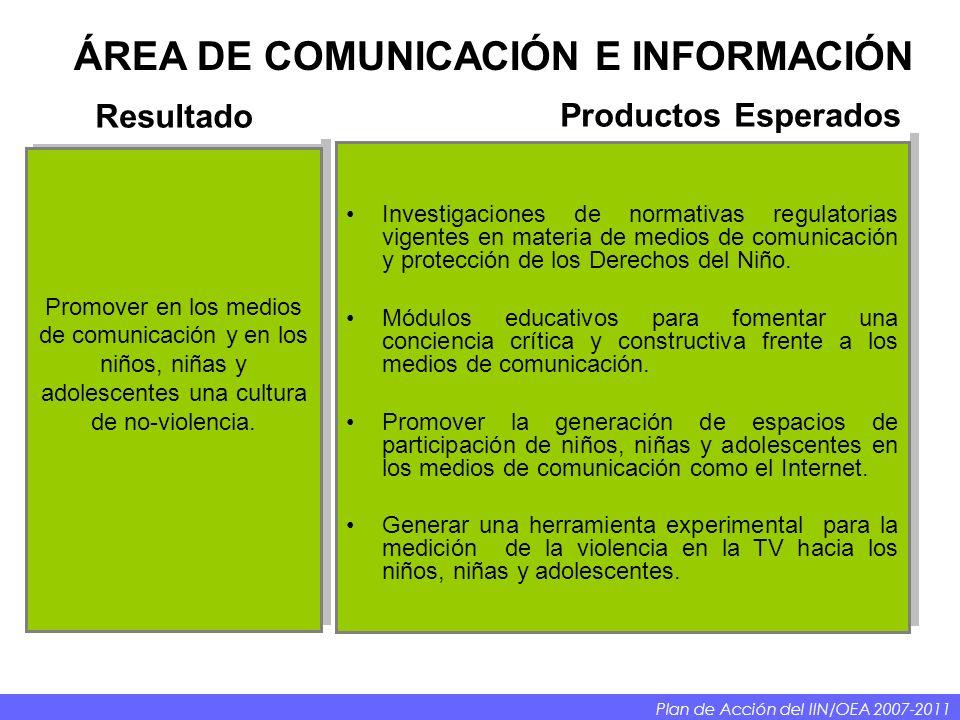 ÁREA DE COMUNICACIÓN E INFORMACIÓN