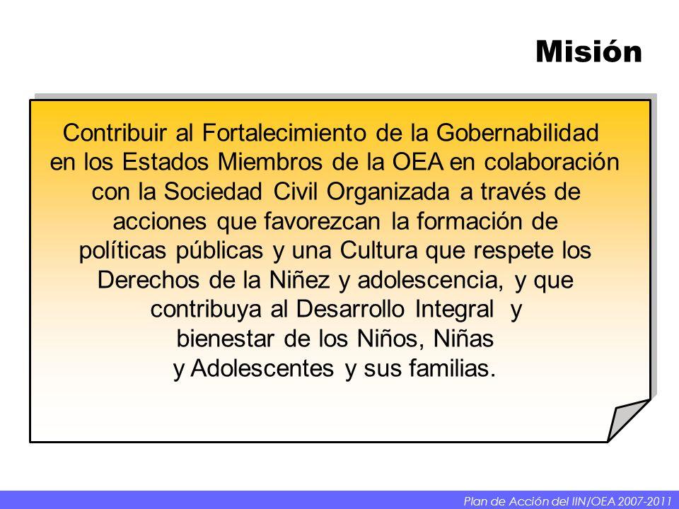 Misión Contribuir al Fortalecimiento de la Gobernabilidad