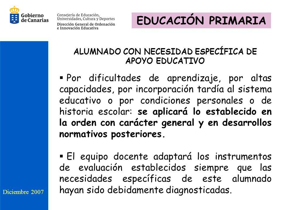 ALUMNADO CON NECESIDAD ESPECÍFICA DE APOYO EDUCATIVO