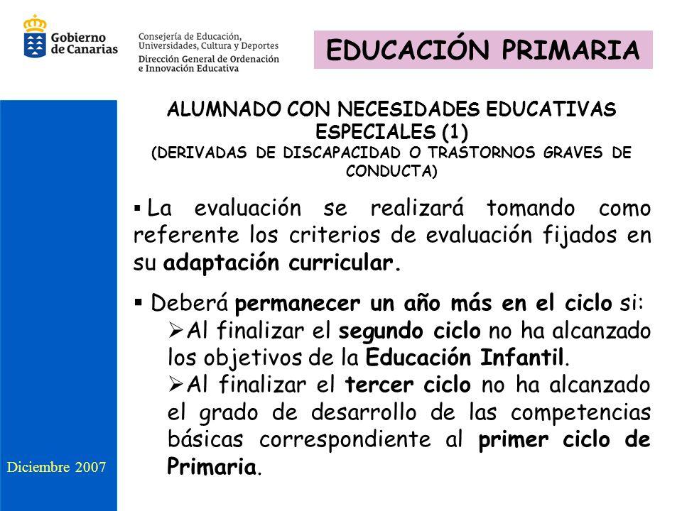 EDUCACIÓN PRIMARIA Deberá permanecer un año más en el ciclo si: