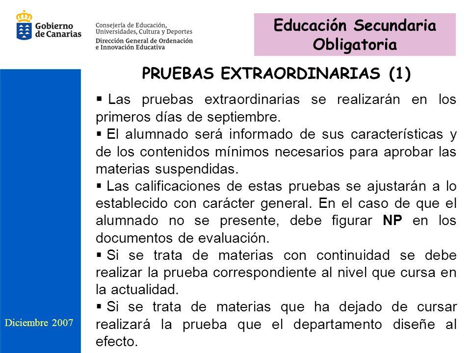 Educación Secundaria Obligatoria PRUEBAS EXTRAORDINARIAS (1)