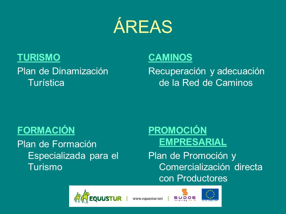 ÁREAS TURISMO Plan de Dinamización Turística