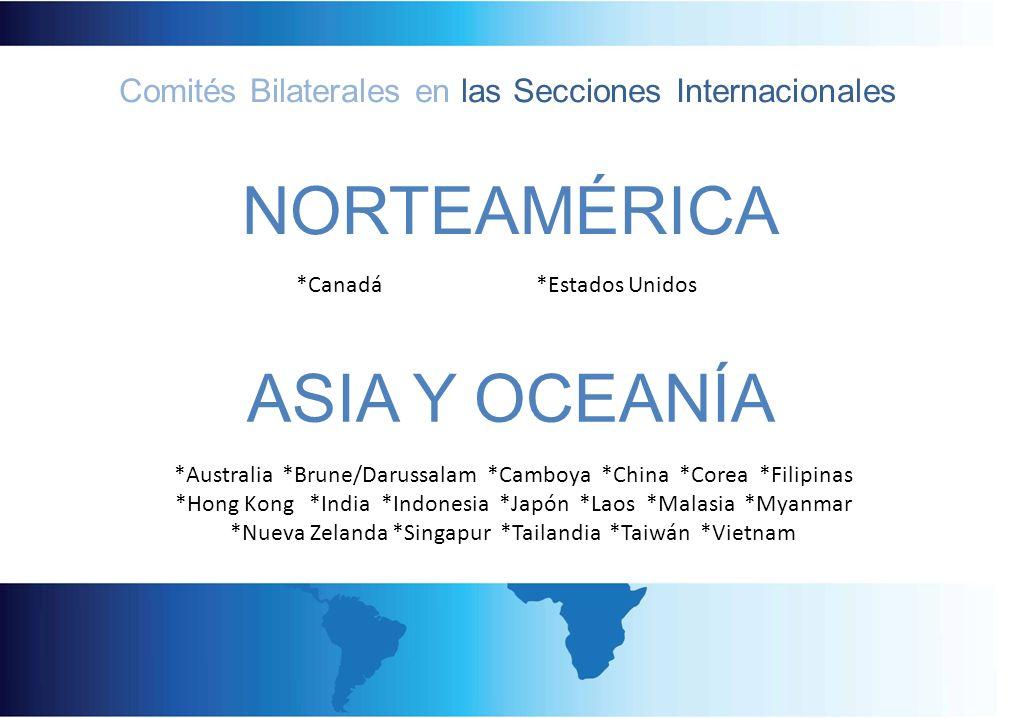 Comités Bilaterales en las Secciones Internacionales