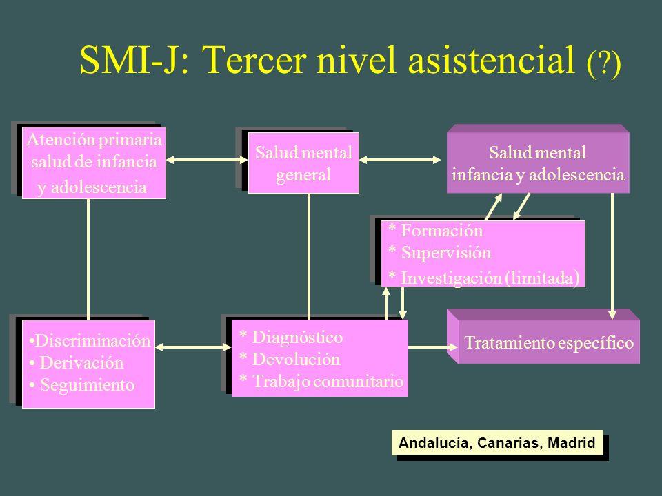 SMI-J: Tercer nivel asistencial ( )