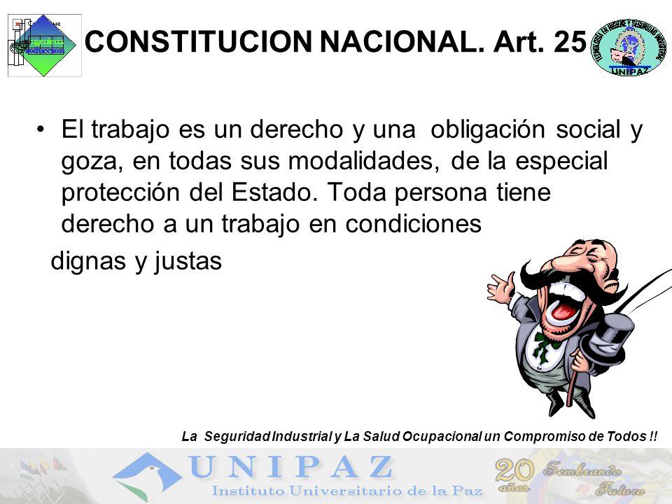 CONSTITUCION NACIONAL. Art. 25