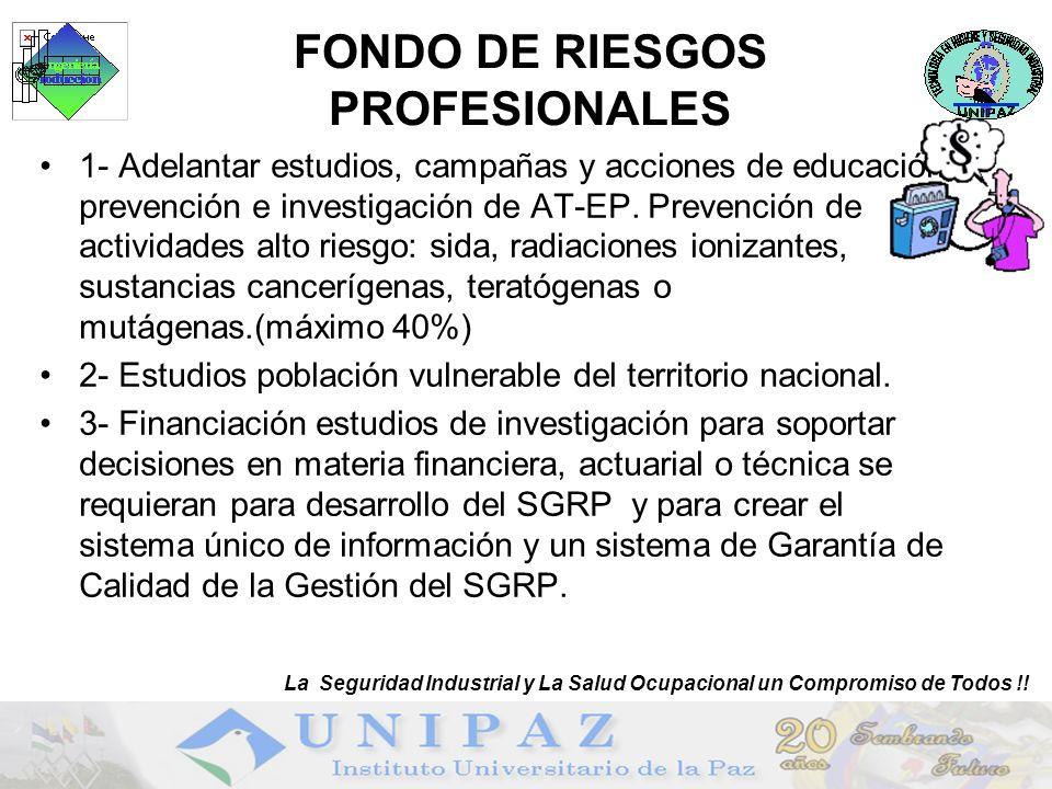 FONDO DE RIESGOS PROFESIONALES