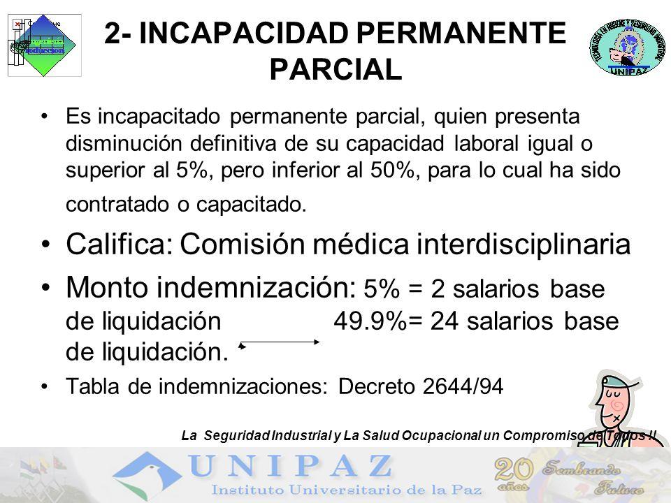 2- INCAPACIDAD PERMANENTE PARCIAL