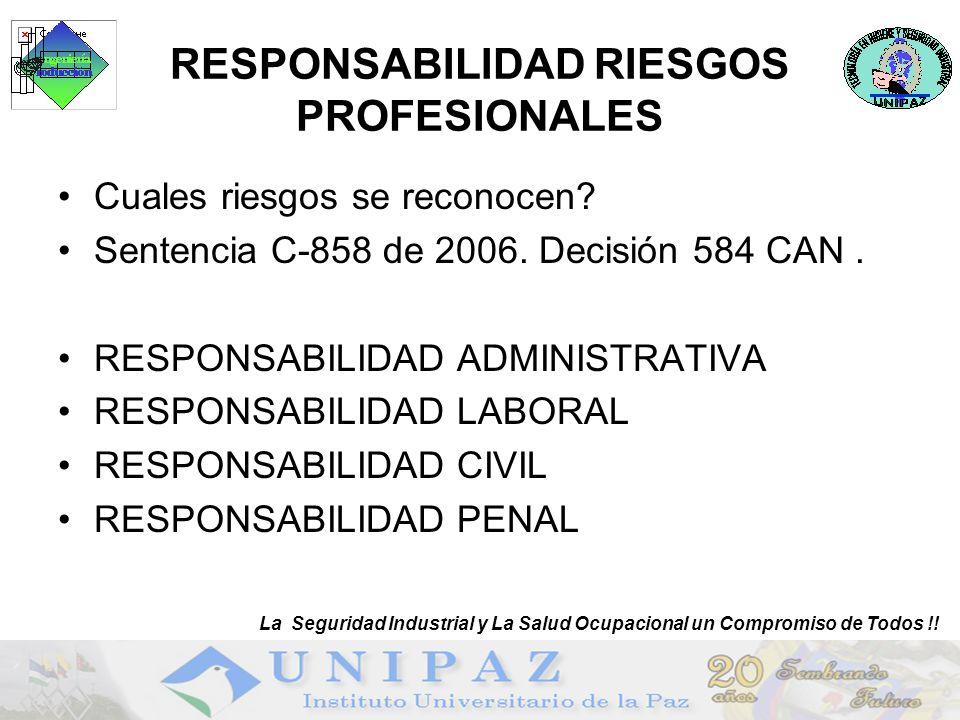 RESPONSABILIDAD RIESGOS PROFESIONALES
