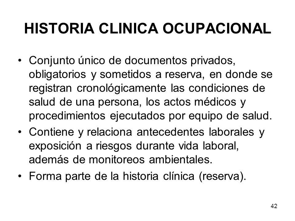 HISTORIA CLINICA OCUPACIONAL