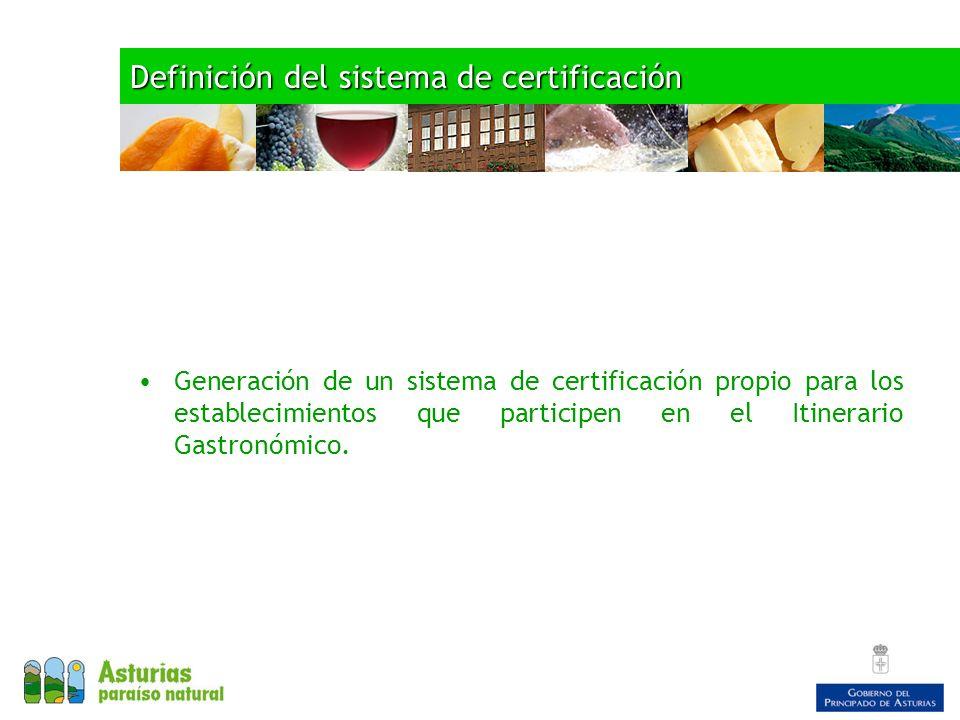 Definición del sistema de certificación