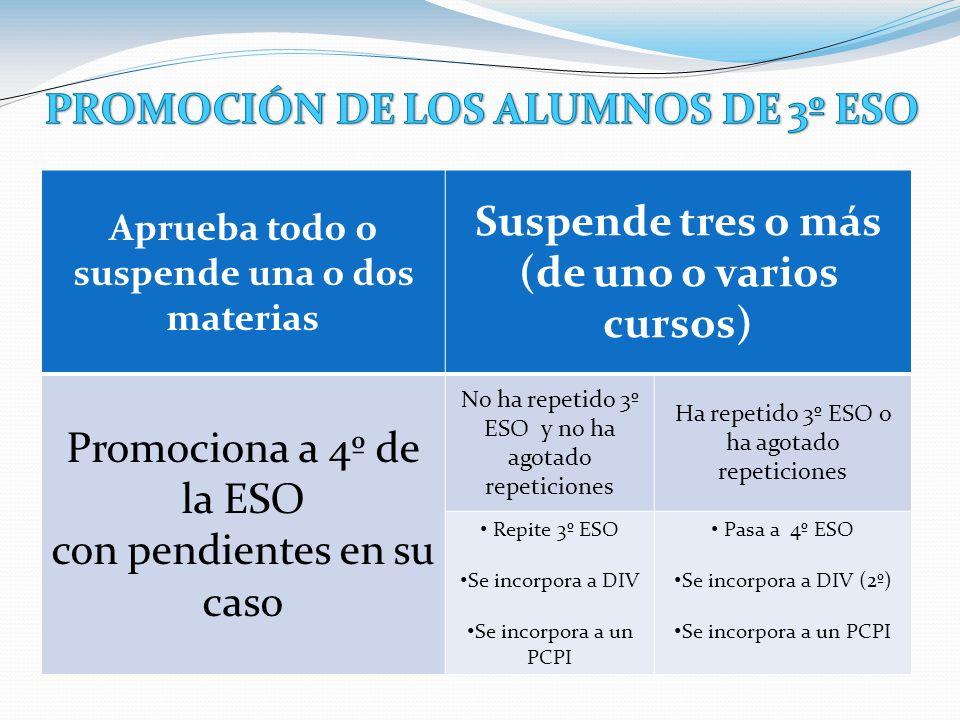 PROMOCIÓN DE LOS ALUMNOS DE 3º ESO