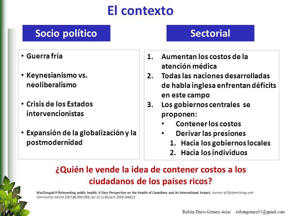 El contexto Socio político Sectorial
