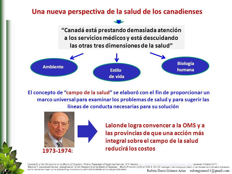 Una nueva perspectiva de la salud de los canadienses