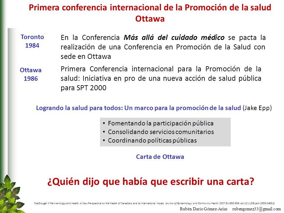 Primera conferencia internacional de la Promoción de la salud