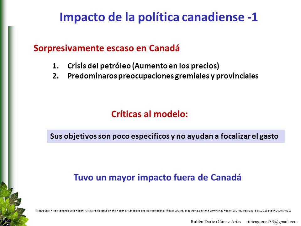Impacto de la política canadiense -1