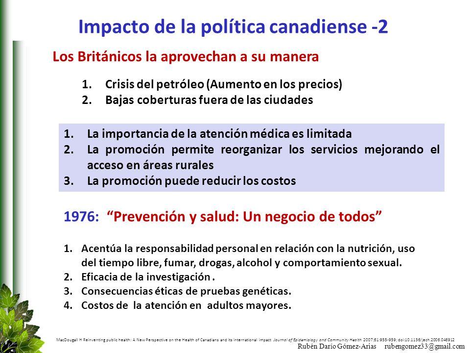 Impacto de la política canadiense -2