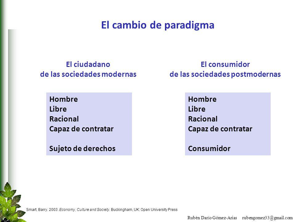 de las sociedades modernas de las sociedades postmodernas