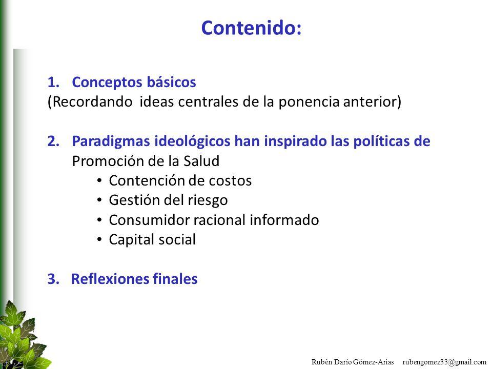 Contenido: Conceptos básicos