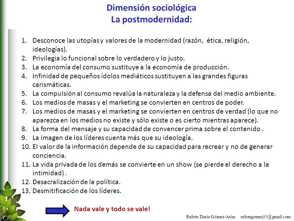 Dimensión sociológica