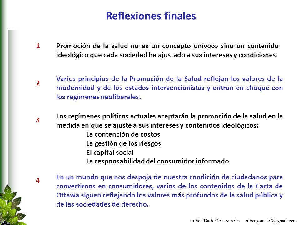 Reflexiones finales 1.