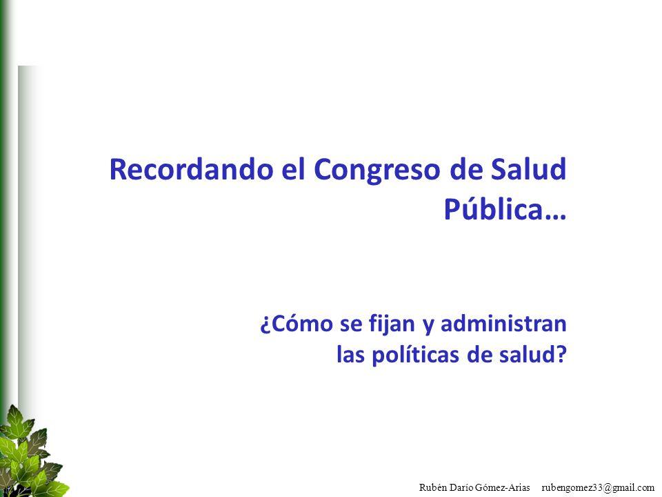Recordando el Congreso de Salud Pública…