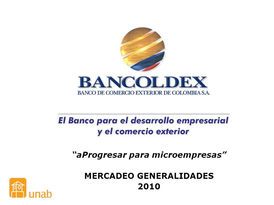 aProgresar para microempresas MERCADEO GENERALIDADES