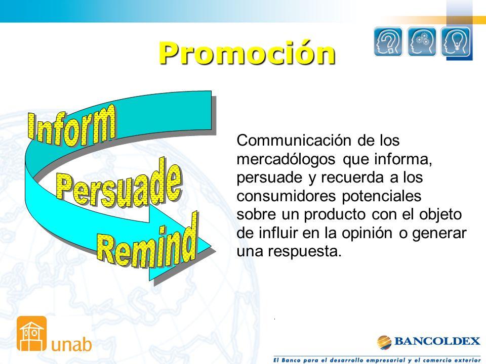 Promoción Inform Persuade Remind