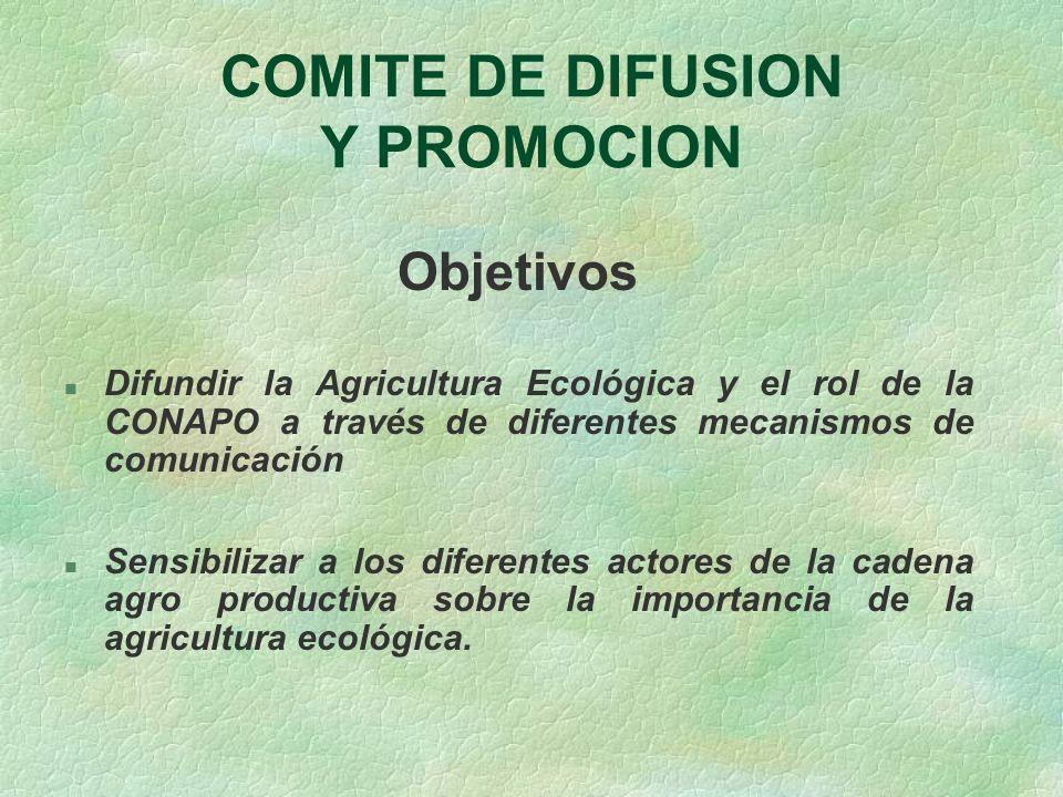 COMITE DE DIFUSION Y PROMOCION