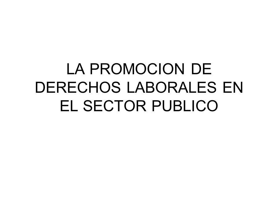 LA PROMOCION DE DERECHOS LABORALES EN EL SECTOR PUBLICO