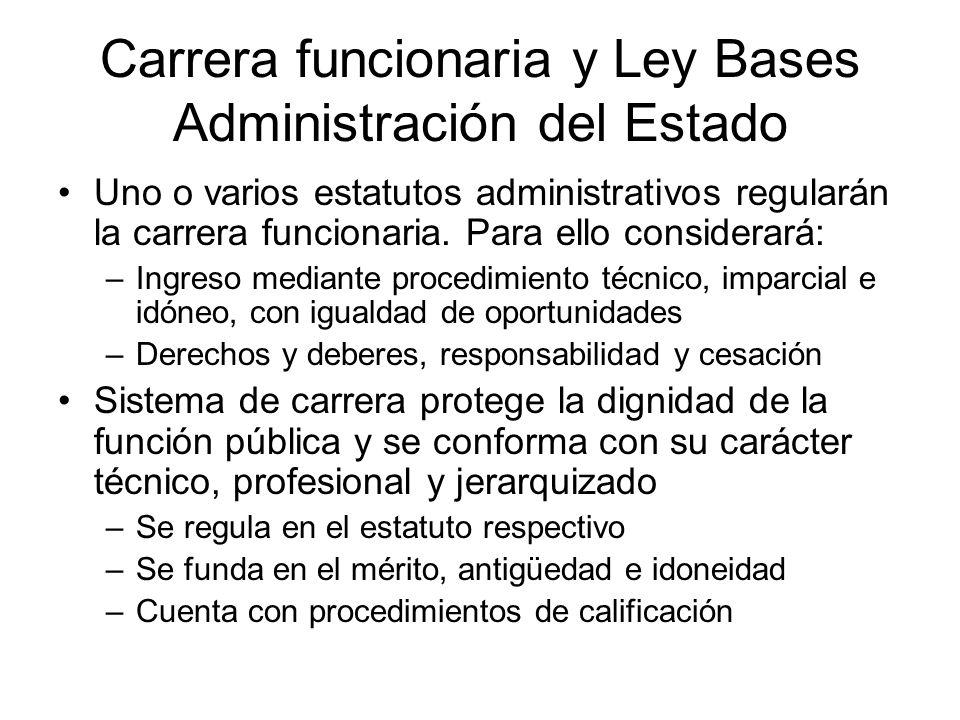 Carrera funcionaria y Ley Bases Administración del Estado