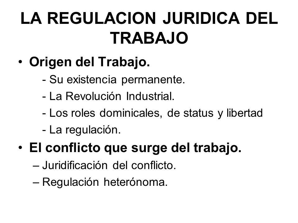 LA REGULACION JURIDICA DEL TRABAJO