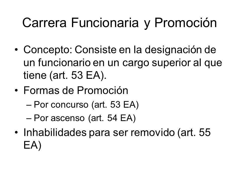Carrera Funcionaria y Promoción