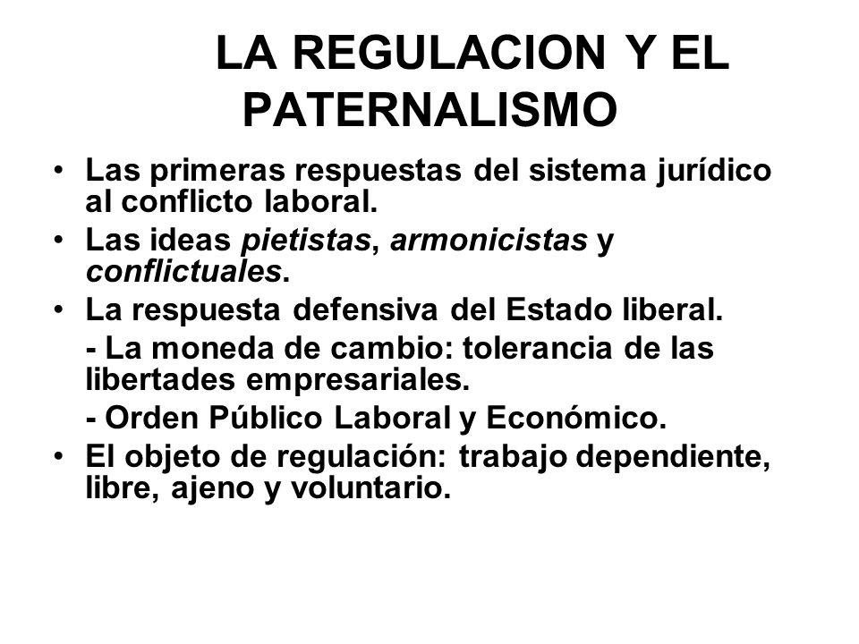 LA REGULACION Y EL PATERNALISMO
