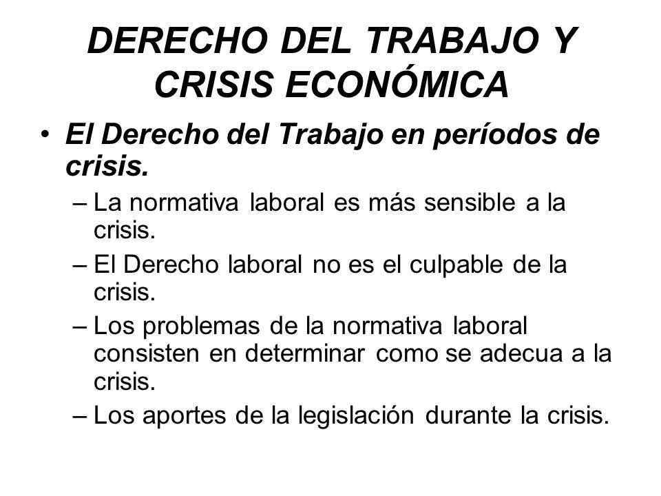 DERECHO DEL TRABAJO Y CRISIS ECONÓMICA