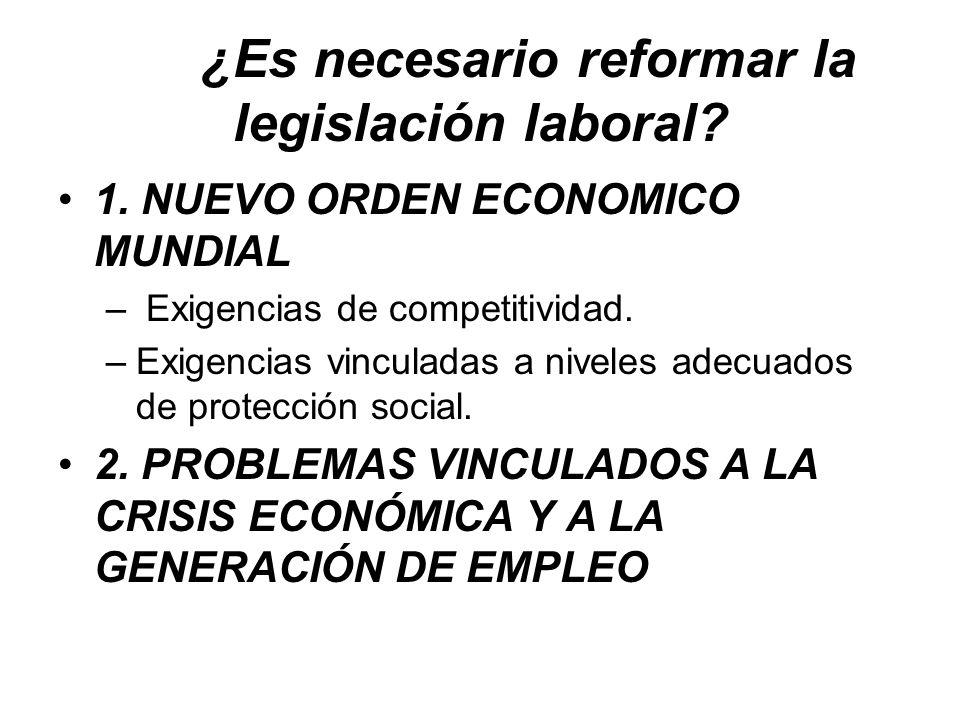 ¿Es necesario reformar la legislación laboral