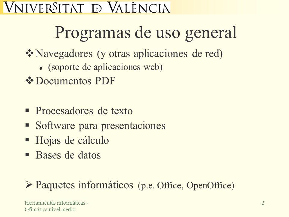 Programas de uso general