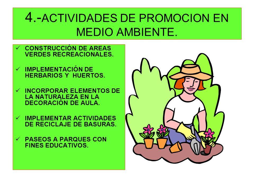 4.-ACTIVIDADES DE PROMOCION EN MEDIO AMBIENTE.