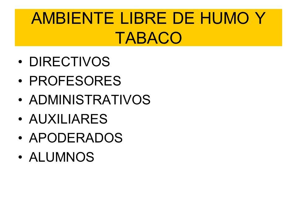 AMBIENTE LIBRE DE HUMO Y TABACO
